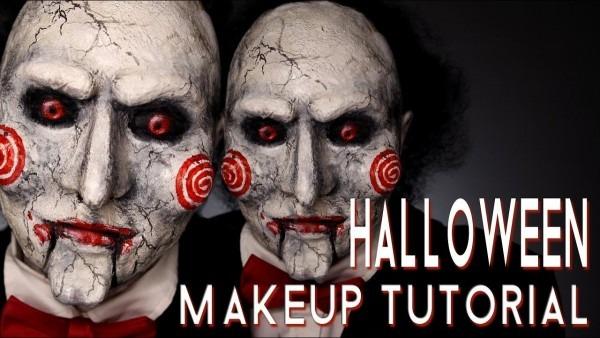 Billy Saw Halloween Costume Makeup Tutorial