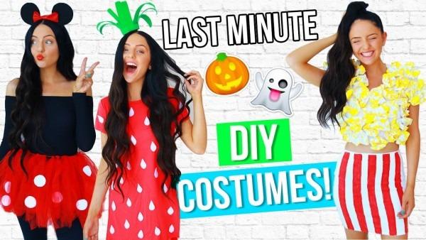 Diy Last Minute Costume Ideas For Halloween 2016! Easy!