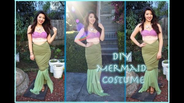 D I Y Mermaid Tail Costume (super Easy!)