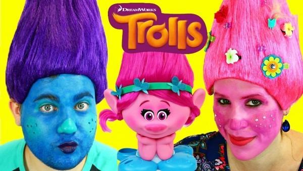 Trolls Makeup Makeover Tutorial & Costume Dress Up For Poppy