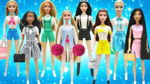 Play Doh Teen Outfits Disney Princess Belle Elsa Anna Tiana Mulan