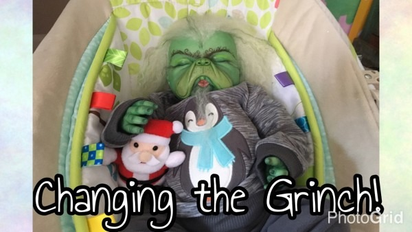 Changing Reborn Baby Grinch Into Penguin Outfit!