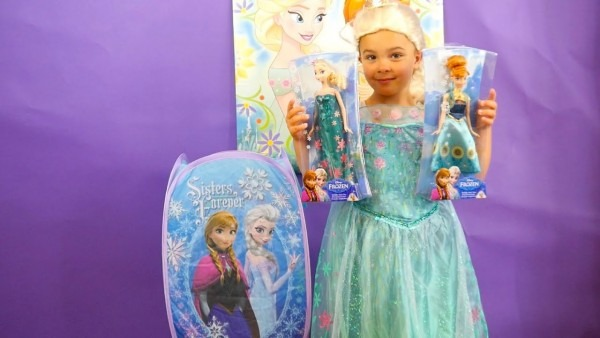 Disney Frozen Fever 2 Dress Up Surprise Toys And Giant Surprise