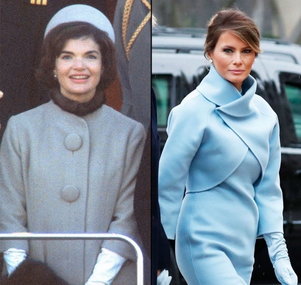Melania Trump Channels Jackie Kennedy S Style At Inauguration