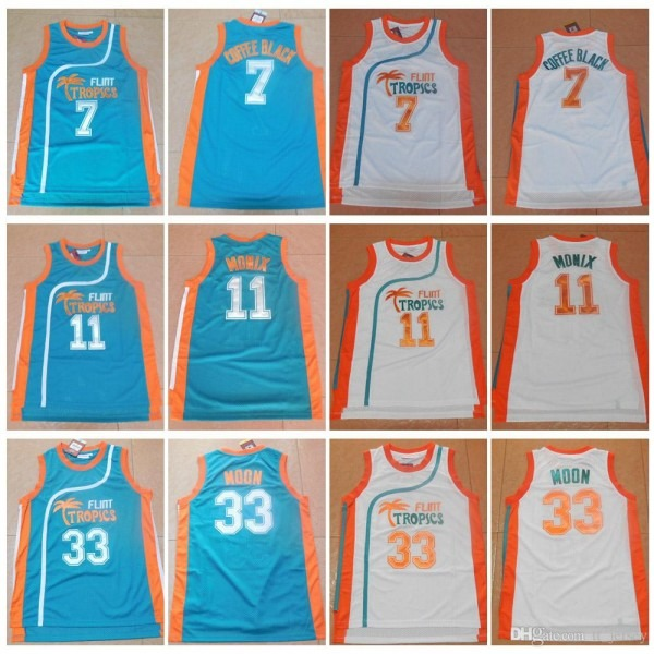 2018 Men's Semi Pro Movie Flint Tropics 33 Jackie Moon Jersey 7