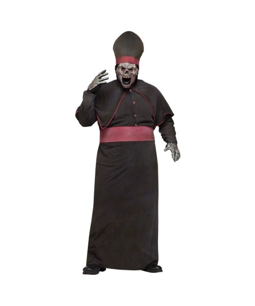 Adult Zombie Priest Plus Size Scary Halloween Costume