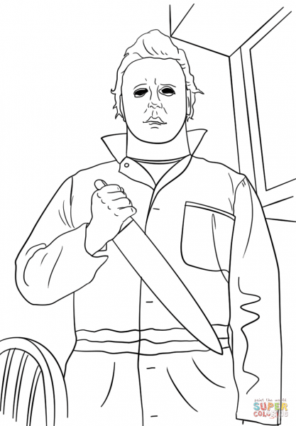 Michael Myers Coloring Page