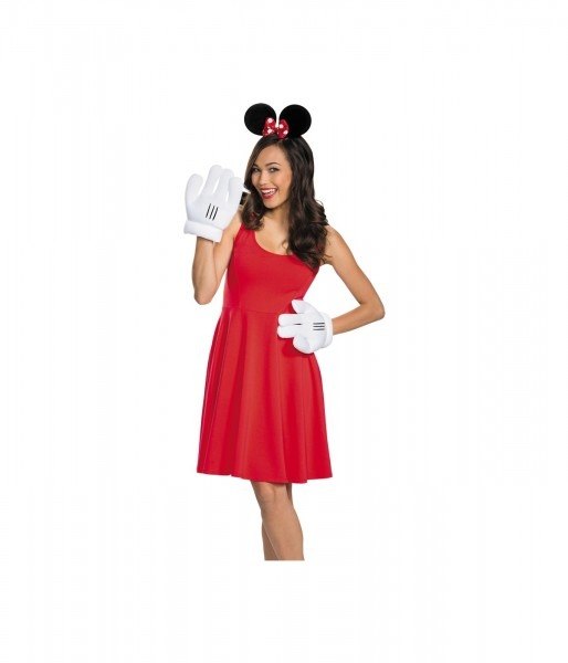 Minnie Mouse Ears And Gloves Women Set