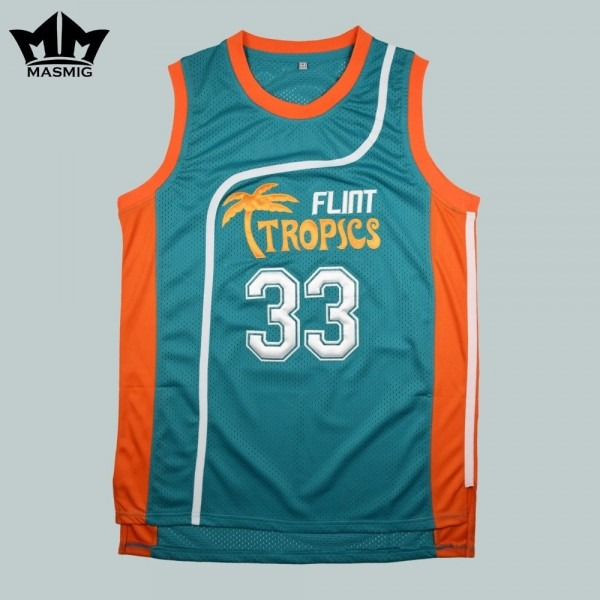 Mm Masmig Semi Pro Jackie Moon 33 Flint Tropics Basketball Jersey