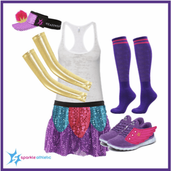 Sparkle Athletic Teapot & Teacup Running Costume