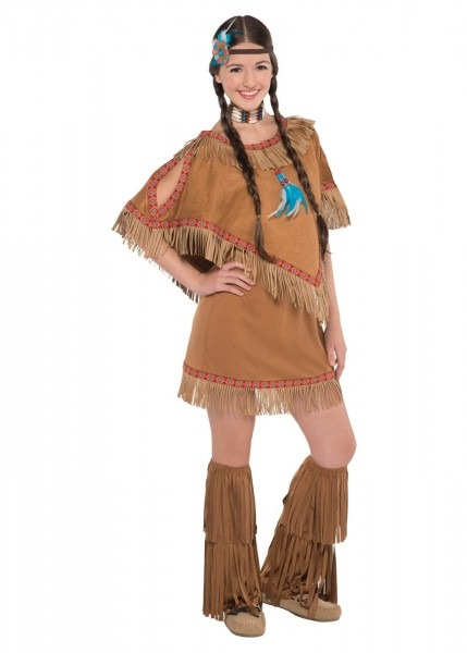 Native American Indian Princess Teen Girls Costume