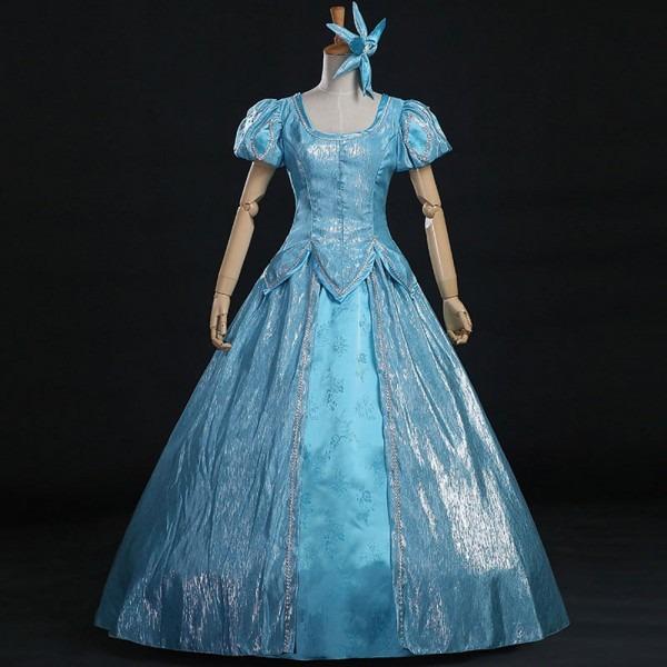 New Movie Mermaid Princess Cosplay Costume Adult Princess Ariel