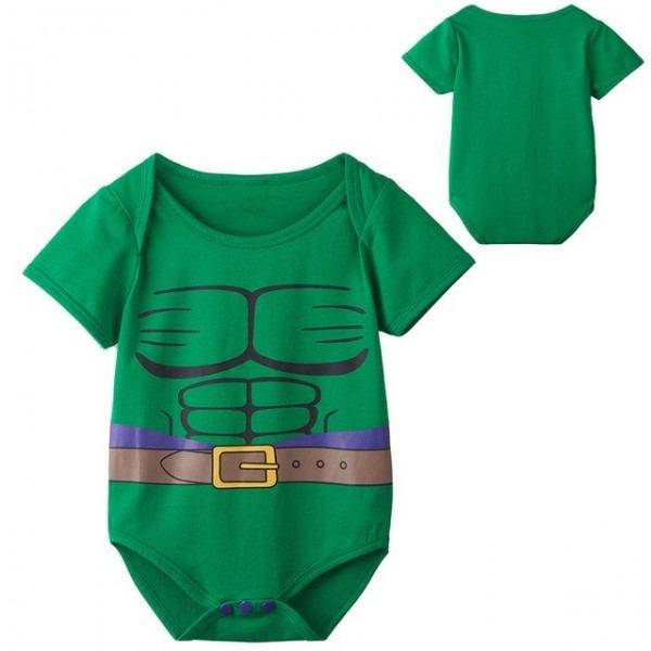 Newborn Baby Boy Green Hulk Costume Bodysuit Infant Party Playsuit