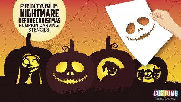 Free Printable Nightmare Before Christmas Pumpkin Stencils