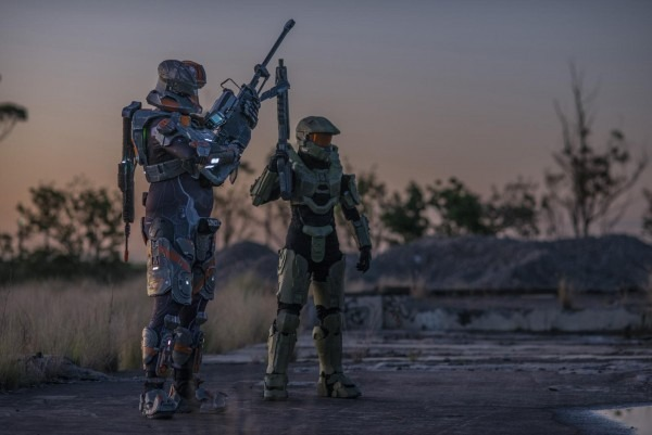 My Friends And I Build And Wear Halo Spartan Armor Here In