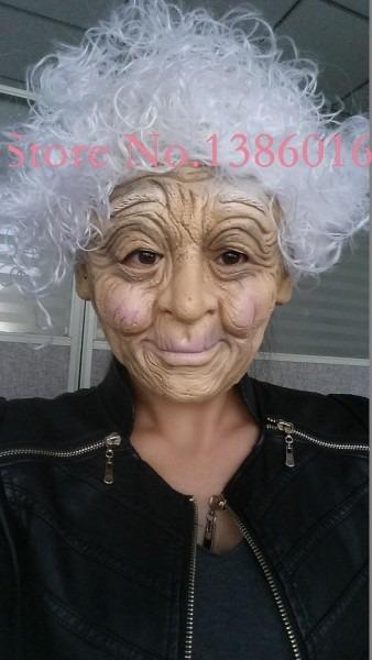 Old Old Man Hide Glue Mask Halloween Mask Props Wig Mask Dance