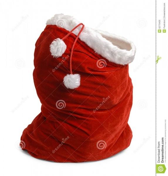 Open Santa Bag Stock Image  Image Of Copy, Space, Santa