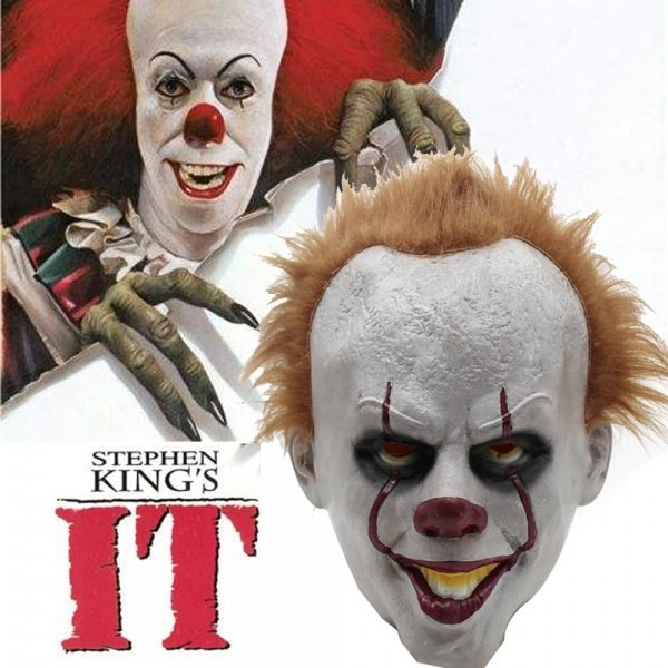 Pennywise Adult Overhead Mask It Stephen King's Costume