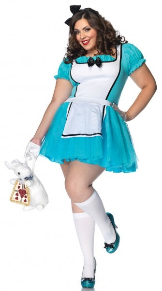 Enchanted Alice In Wonderland Plus Size Costume