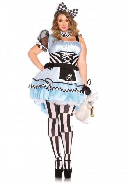 Plus Size Psychedelic Alice In Wonderland Halloween Costume