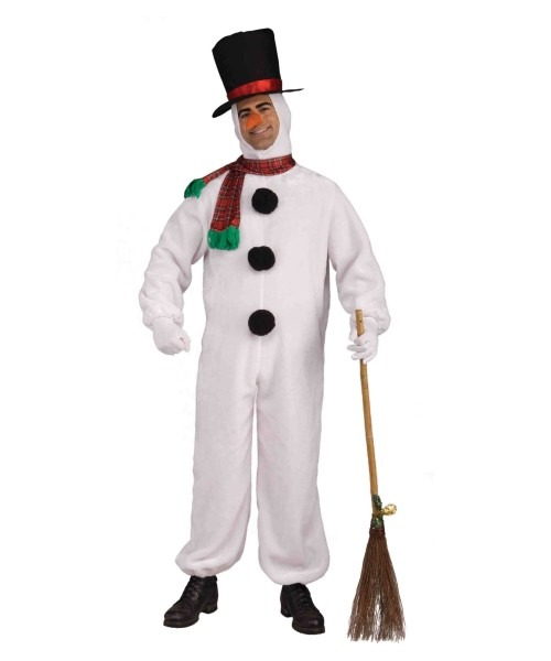 Adult Snowman Plush Costume