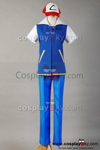 Pokemon Ash Ketchum Cosplay Costume