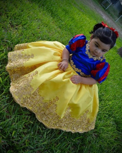 Snow White Dress, Children Pageant Dresses With Bow On Luulla
