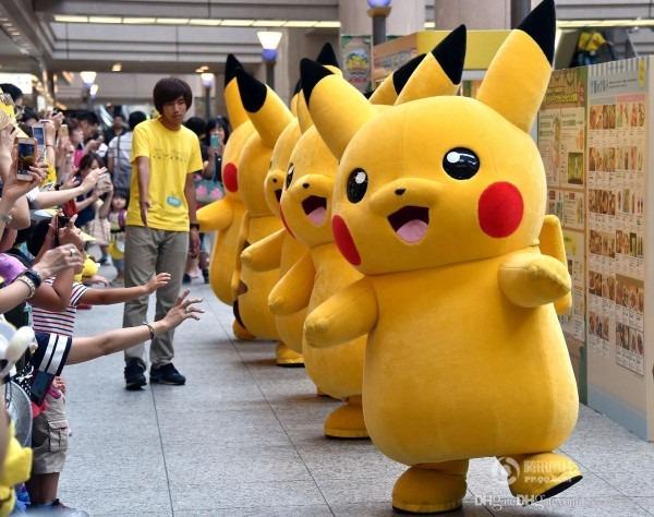 Professional Adult Size Pikachu Mascot Costume Carnival Anime
