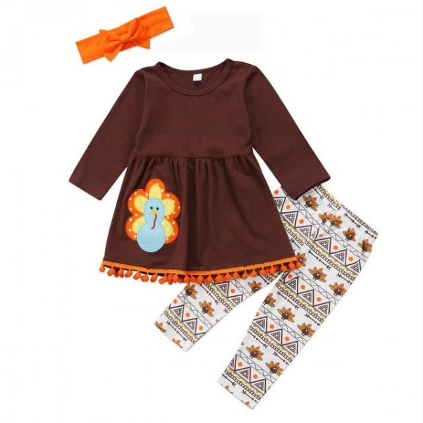 Pudcoco 2017 Turkey Toddler Kids Baby Girls Halloween Outfit