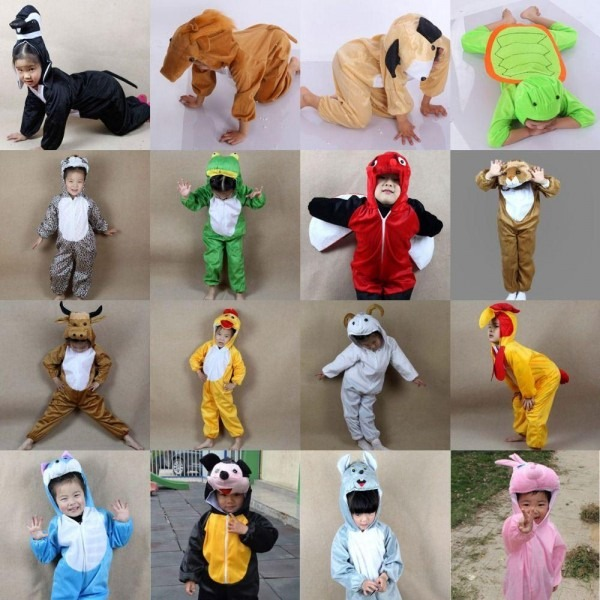 Q228 Cartoon Children Kids Animals Costumes Cosplay Clothing