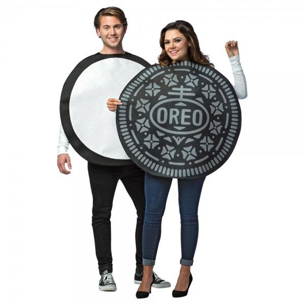 Adult Oreo Cookie Couples Halloween Costume 791249371401