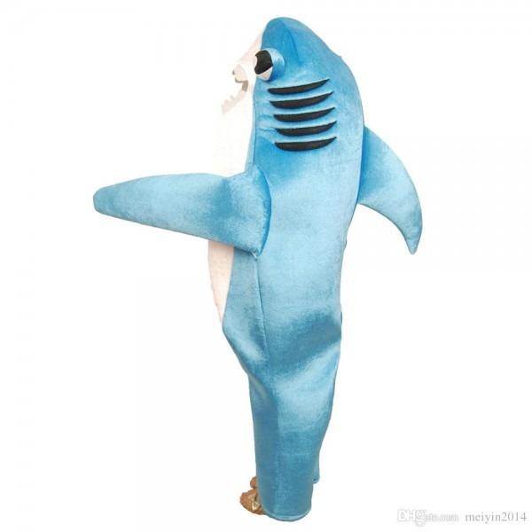 Kids Shark Costume Cute Mascot Costume Blue Funny Shark Cosplay