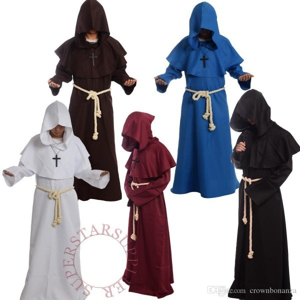 Brand New Friar Medieval Cowl Hooded Monk Renaissance Priest Robe