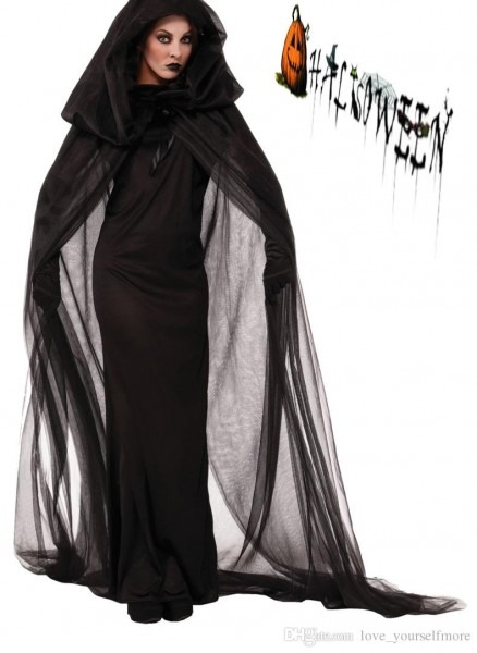 Gothic Witch Halloween Costume Sorceress Costume Adult Witch Fancy