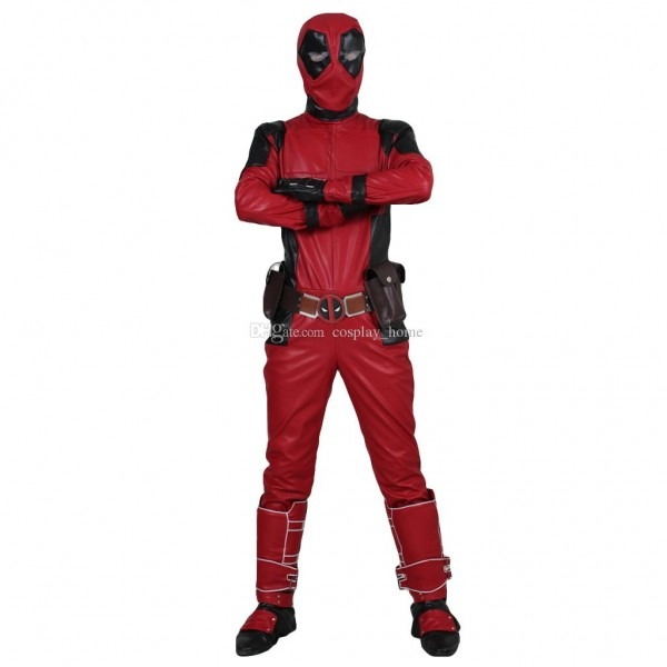 High Quality Adult Deadpool Wilson Cosplay Costume Leather Full