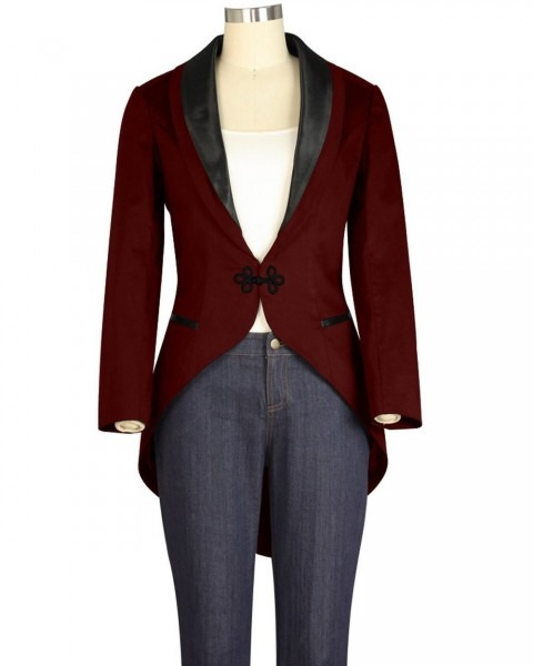 Rk129 Tuxedo Jacket With Tail Costume Punk Lined Retro Gothic