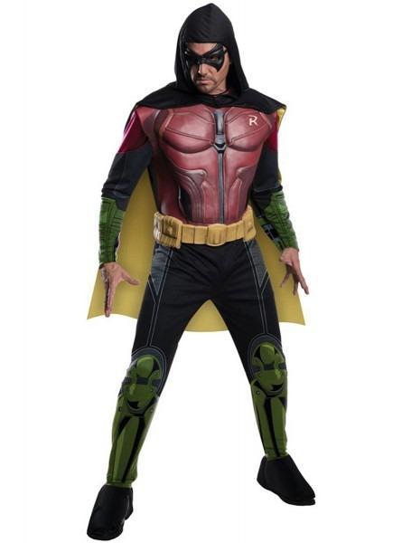 Robin Batman Arkham Franchise Muscular Costume For A Man  The