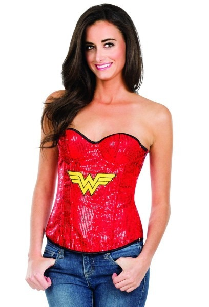 Red Sequined Wonder Woman Corset