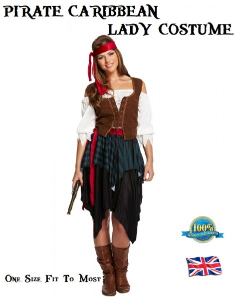 Pirate Caribbean Lady Costume Not Pirates Of The Caribbean Ladies