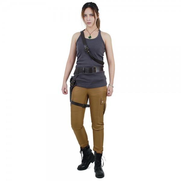Sexy Lara Croft Tomb Raider Cosplay Costume Outfits With Gun