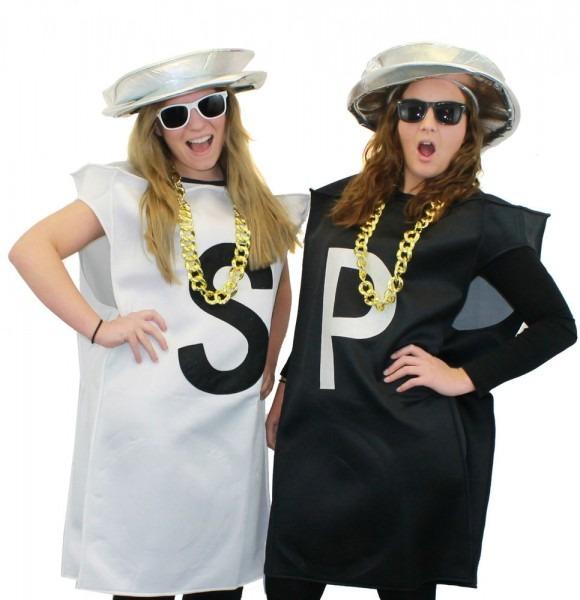 80s Pop Group Salt N Pepper Pepa Costume Fancy Dress Sunglasses