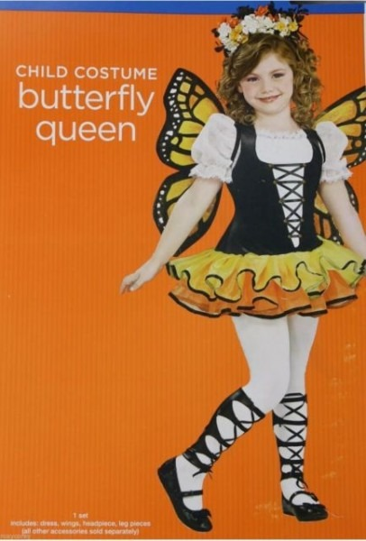 Halloween Girls Butterfly Queen Costume Size Large 10 12
