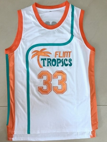 Flint Tropics 11 Ed Monix Blue Semi Pro Movie Stitched Basketball