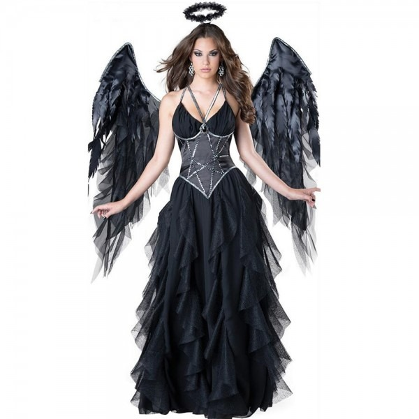 Sexy Devil Fallen Angel Costumes, Classic Halloween Party Fancy