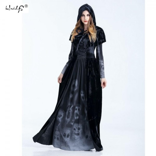 2018 Sexy Medieval Renaissance Adult Witch Gothic Queen Of Vampire