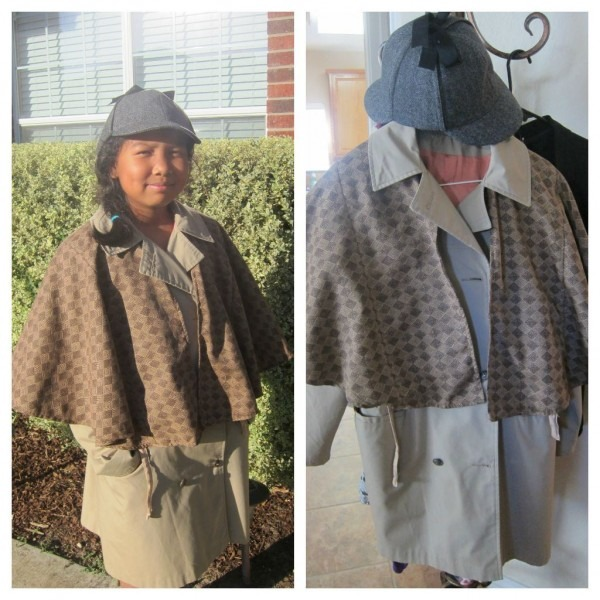 Sherlock Holmes Halloween Costume Trench Coat And Bed Skirt Both