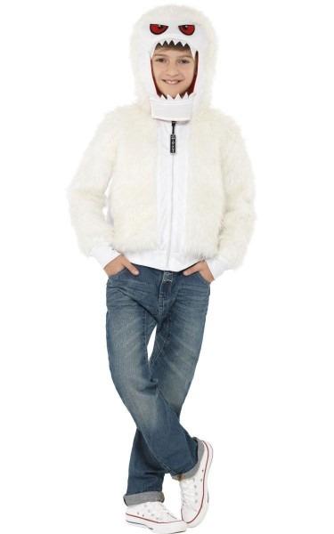 Kids White Yeti Costume