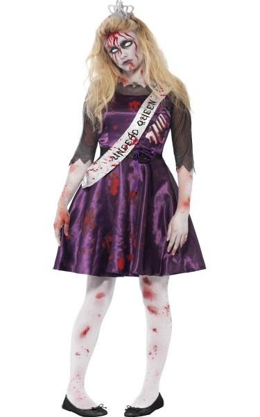 Teen Girls Zombie Prom Queen Costume