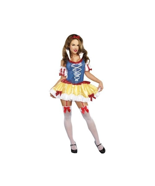Sexy Sequins Snow White Womens Costume