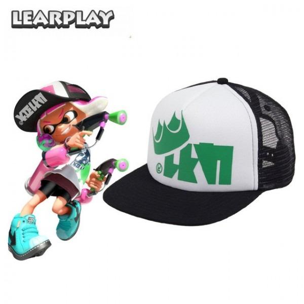 Splatoon 2 King Flip Mesh Trucker Cap Men's Hat Green Adjustable